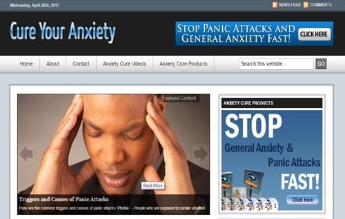 anxiety cure blog