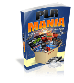 How to make money with PLRPLR Mania