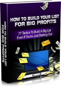 Build a profitable mail list