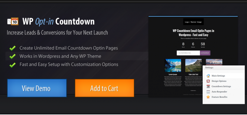 WordPress countdown generator plugin