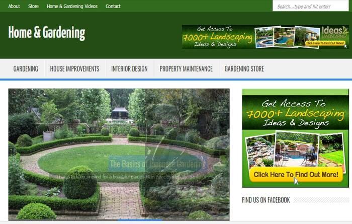 home garden niche blog