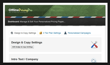 What is an amazing Offline WP Pricing Table??